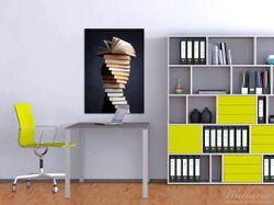 Wandbild Bücherstapel – Bild 2