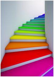 Wandbild Bunte Treppe – Bild 1