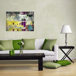 Wandbild Retro-Style türkis-rot – Bild 2