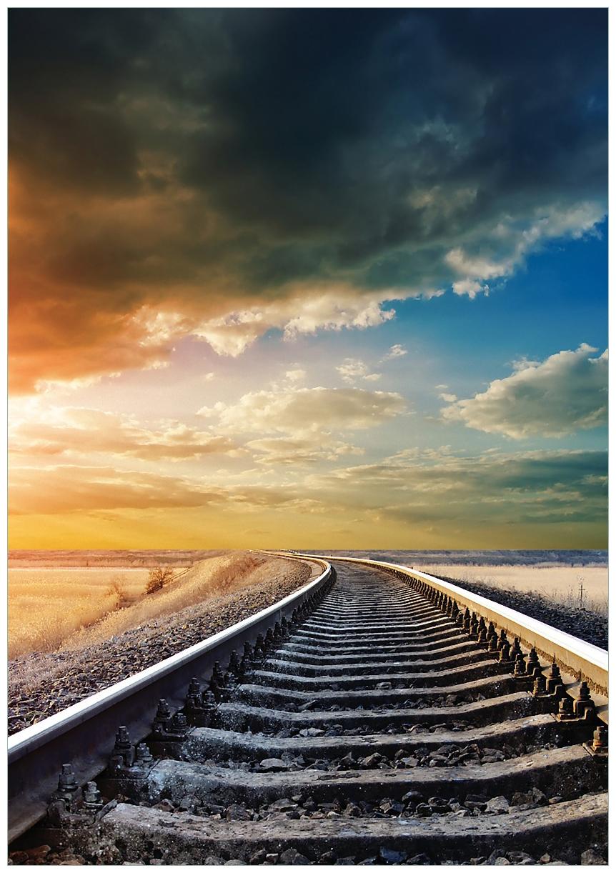 Wandbild Bahnschienen ins Ungewisse – Bild 1