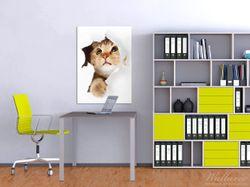 Wandbild Katze mit Blick nach oben – Bild 2
