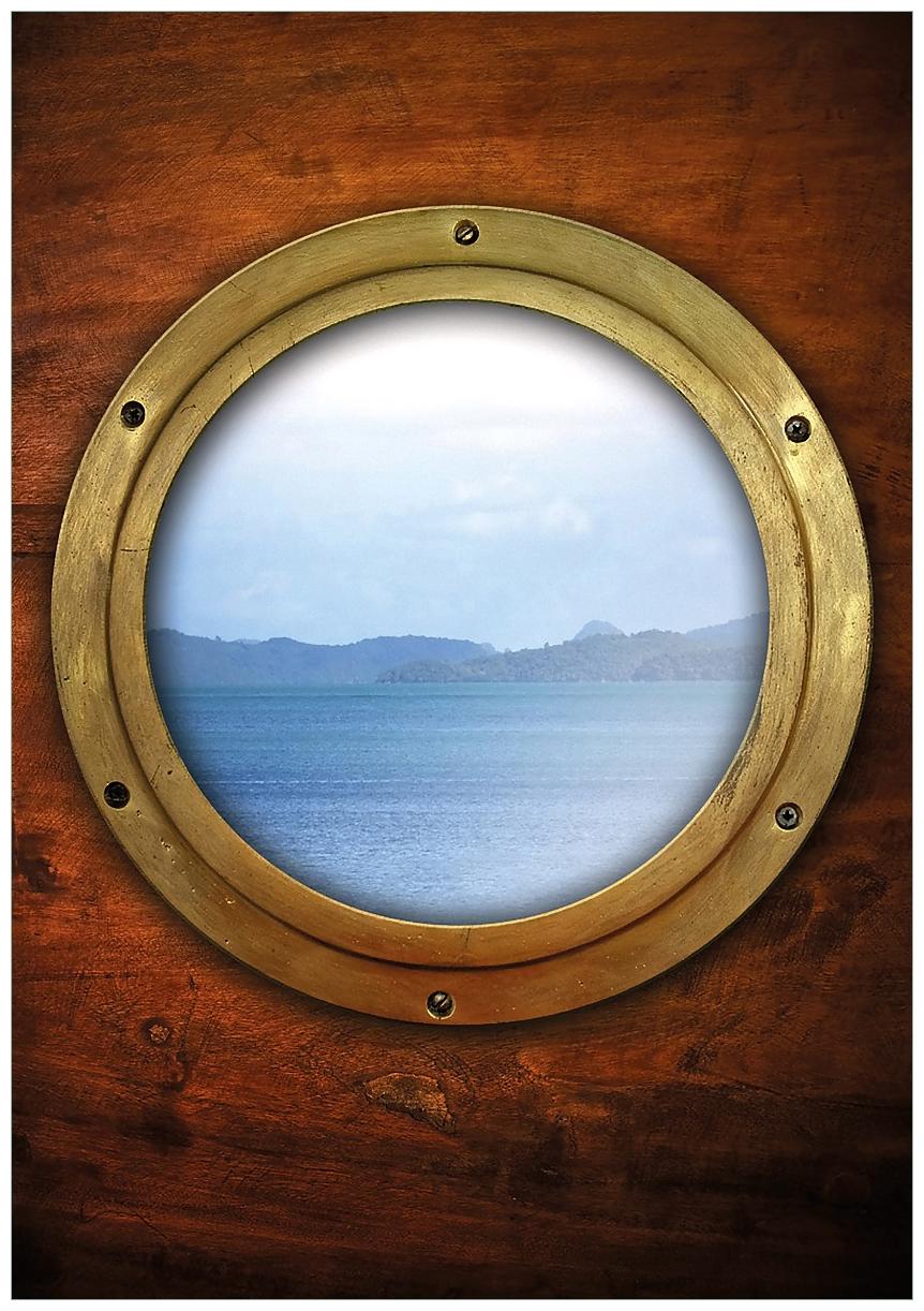 Wandbild Guckloch aus dem Boot – Bild 1
