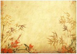 Wandbild Herbststimmung – alter Papyrus mit Herbstmotiven – Bild 1