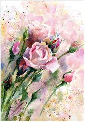 Wandbild Abstraktes Blumenbuket – Bild 1