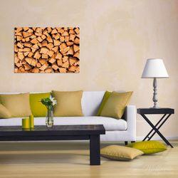 Wandbild Holzstapel gehackt - Holzscheite für den Kamin – Bild 2