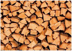 Wandbild Holzstapel gehackt - Holzscheite für den Kamin – Bild 1