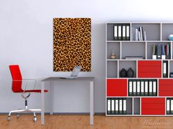 Wandbild Leopardenmuster  in orange schwarz – Bild 2