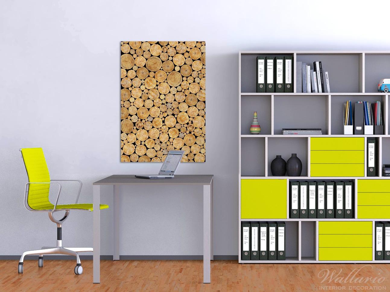 Wandbild Holzstapel rund – Bild 2