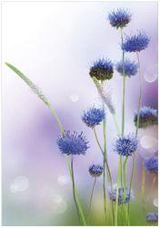 Wandbild Abstrakte lila Blume – Bild 1