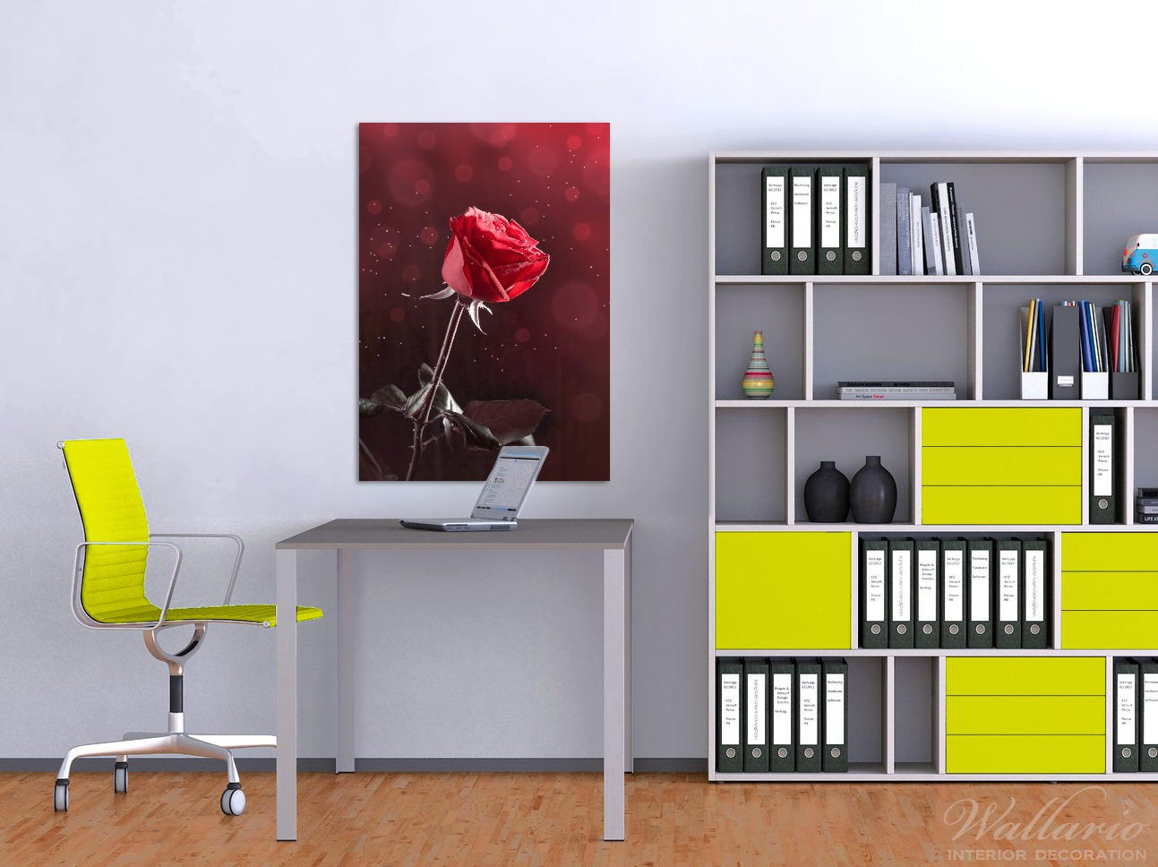 Wandbild Rote Rose Single – Bild 2