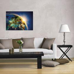 Wandbild Erde im Weltall im Sonnenschein – Bild 2