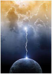 Wandbild Gewitter über der Erde – Bild 1