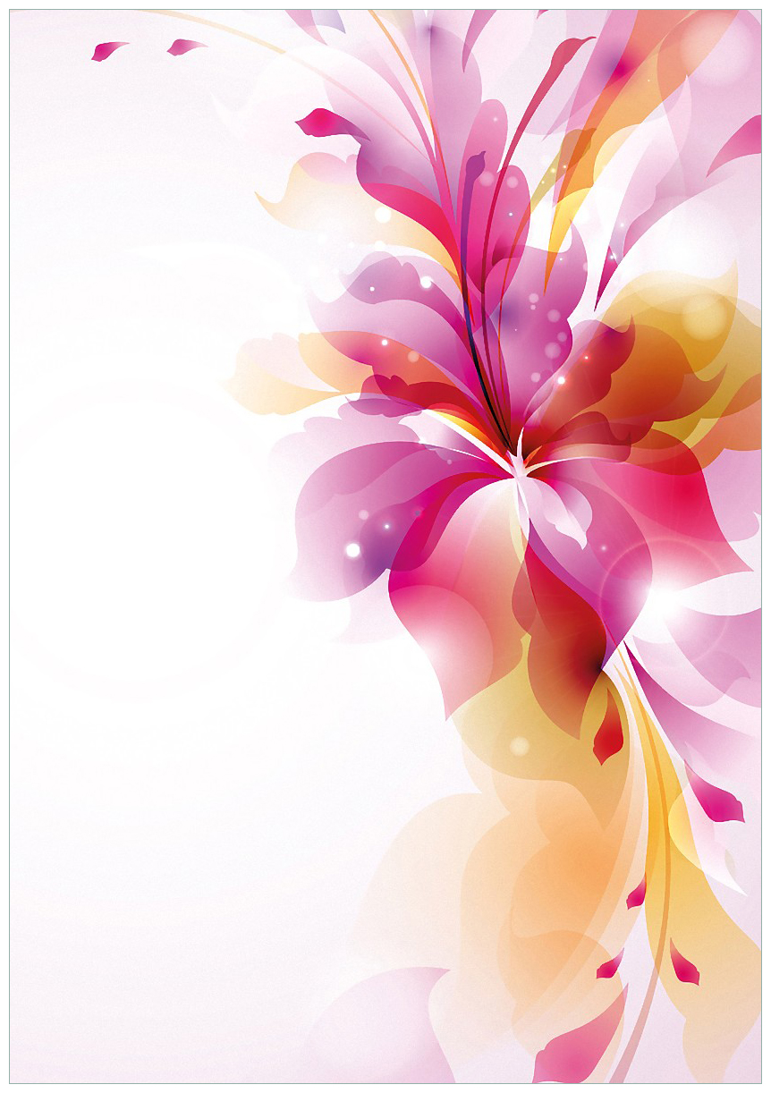 Wandbild Zentrum der pinken Blume – Bild 1