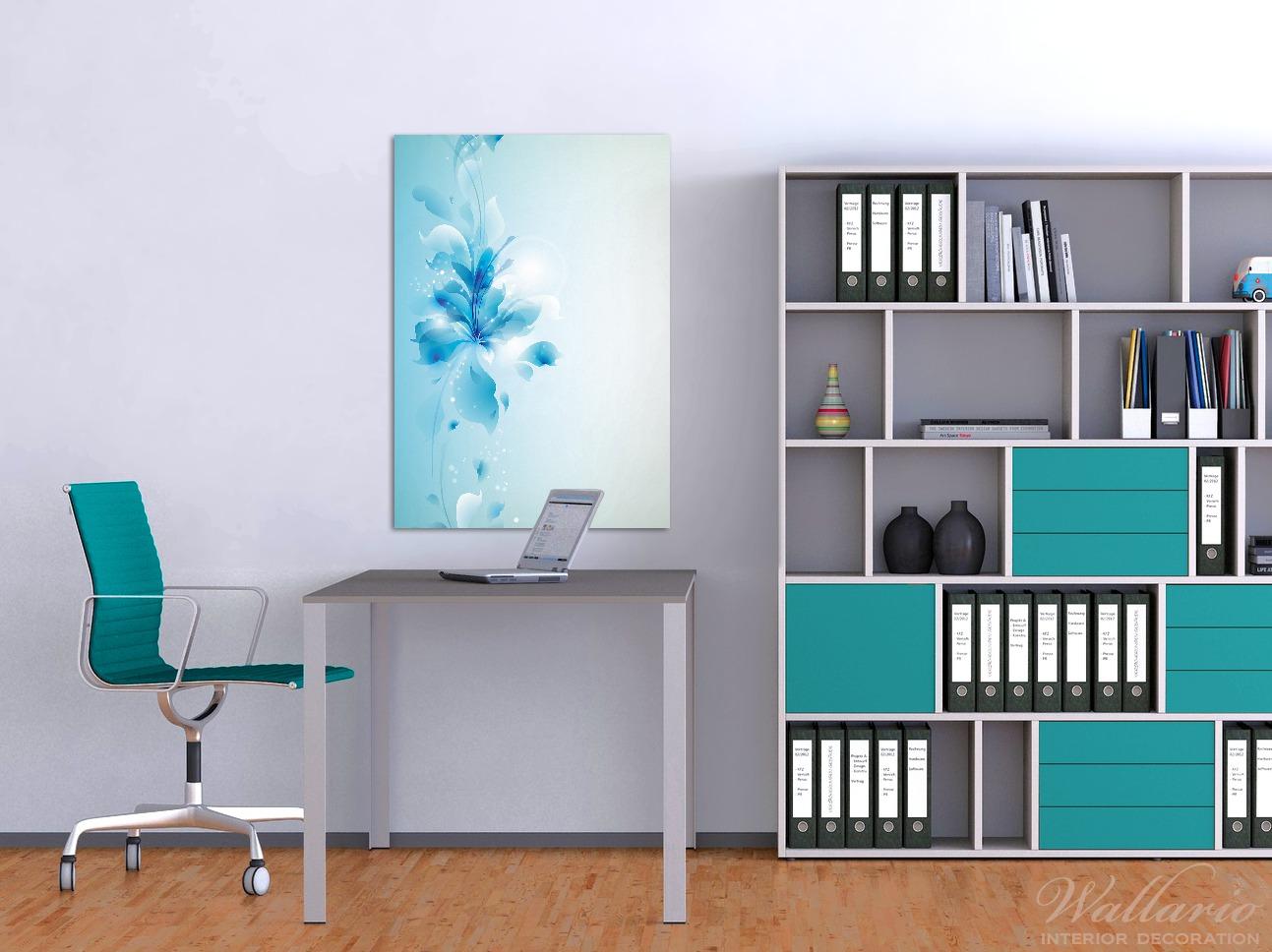 Wandbild Blaues Blumenbuket – Bild 2