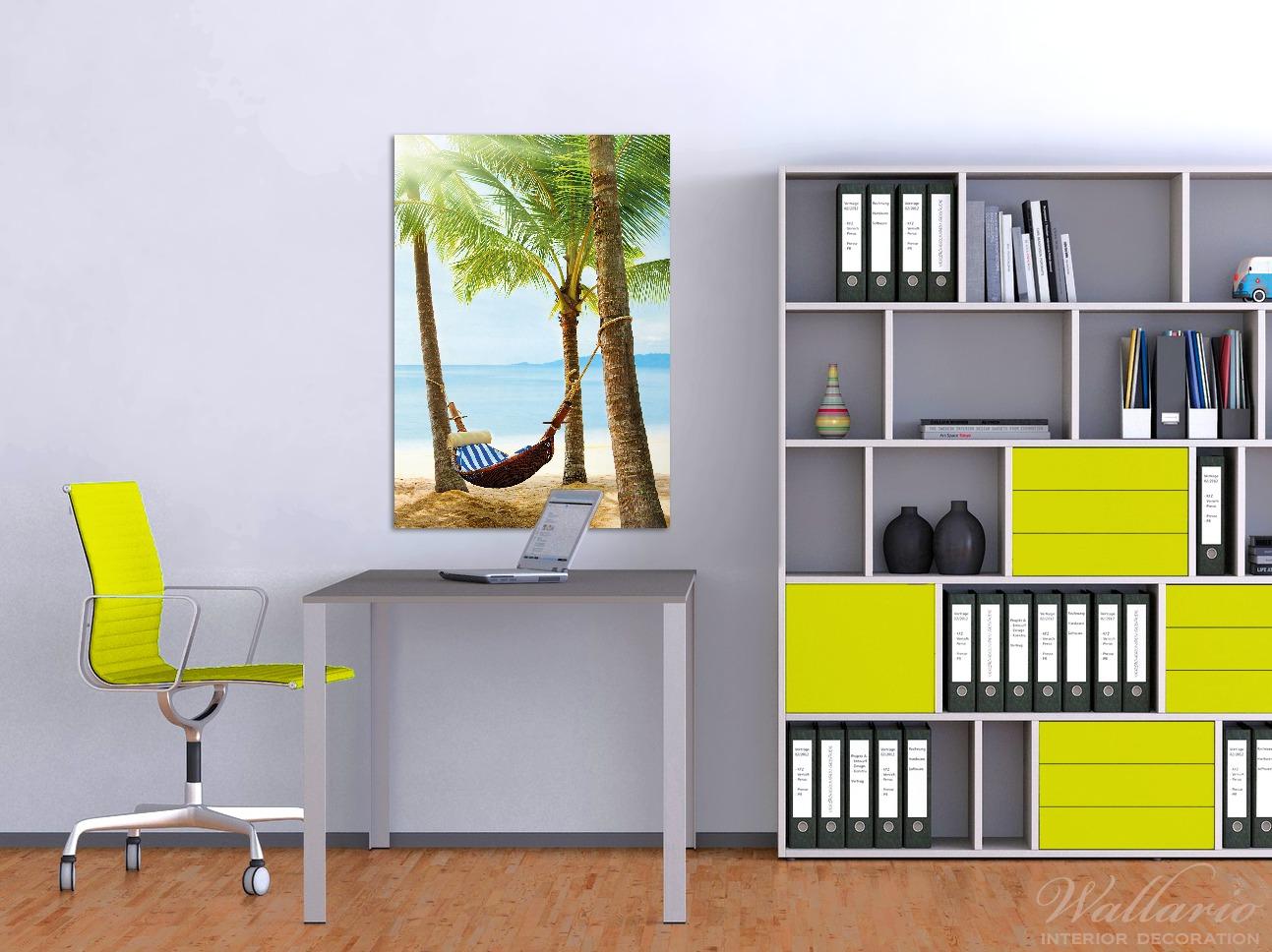 Wandbild Hängematte in der Karibik – Bild 2