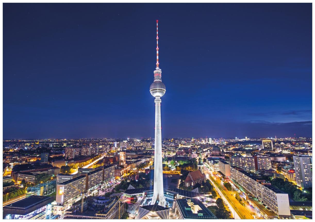 Wandbild Fernsehturm Berlin bei Nacht – Bild 1