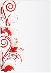 Wandbild Abstrakte rote Blumenschnörkel – Bild 1
