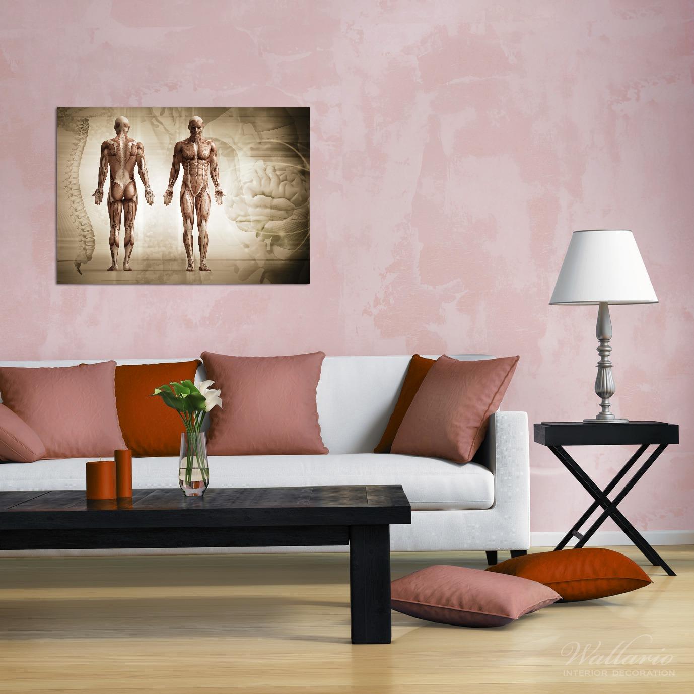 Wandbild Anatomie Mensch II – Bild 2