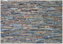 Wandbild Natursteinmauer in grau braun – Bild 1