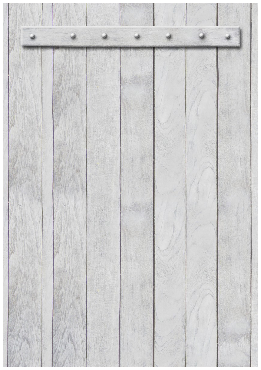 Wandbild Graue Holztür – Bild 1