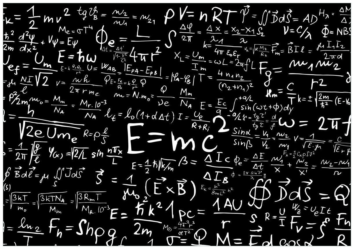 Wandbild Mathematische Formeln – Relativitätstheorie – Bild 1