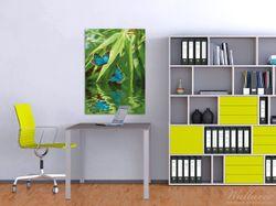 Wandbild Schmetterlinge in Reflektion – Bild 2