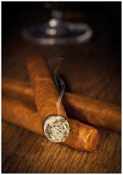 Wandbild Zigarre am Abend – Bild 1