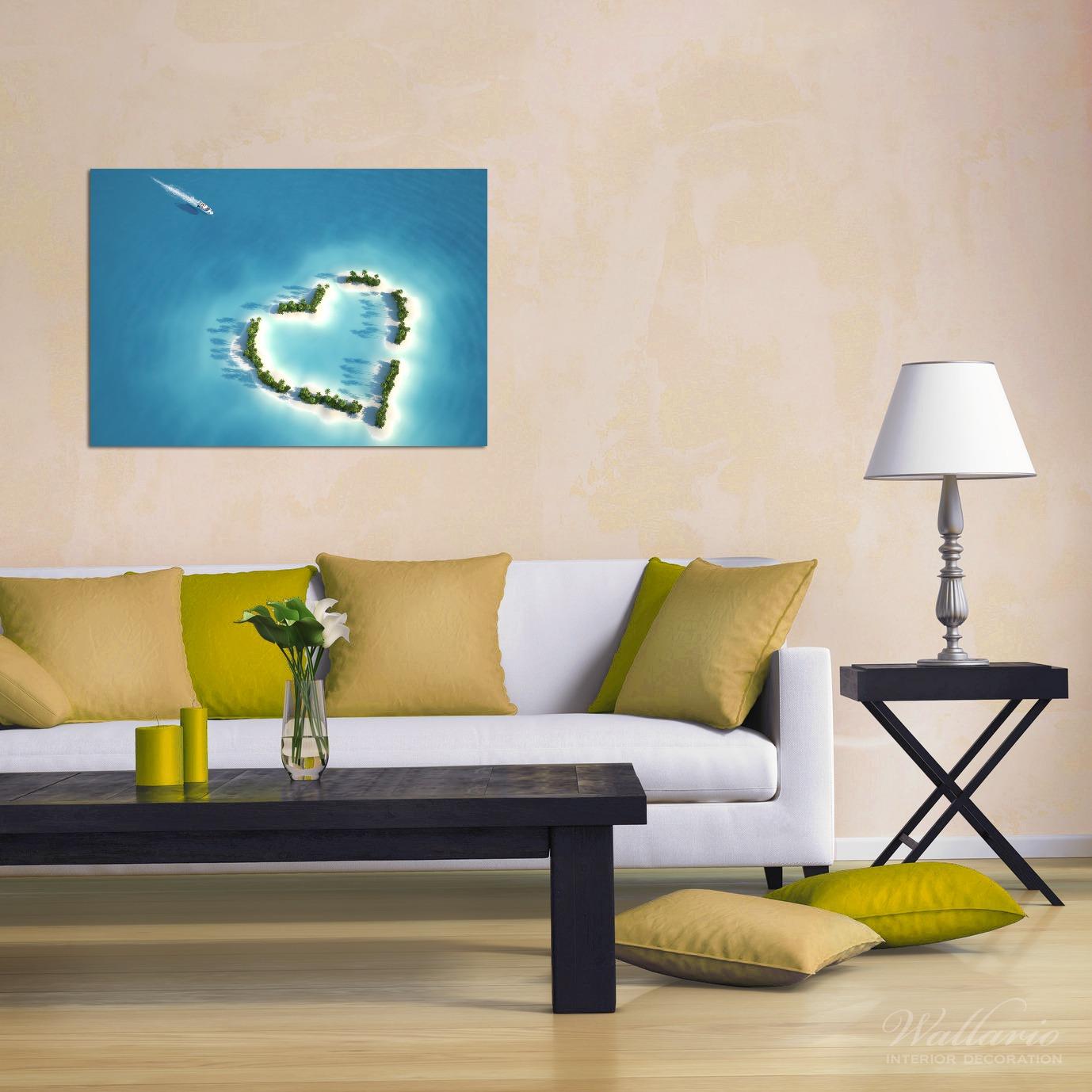 Wandbild Insel mit Herz – Bild 2