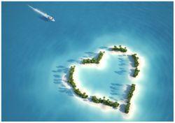 Wandbild Insel mit Herz – Bild 1