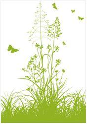 Wandbild Grüne Sommerwiese – Bild 1