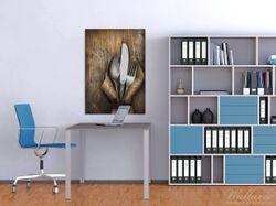 Wandbild Besteck Set – Bild 2