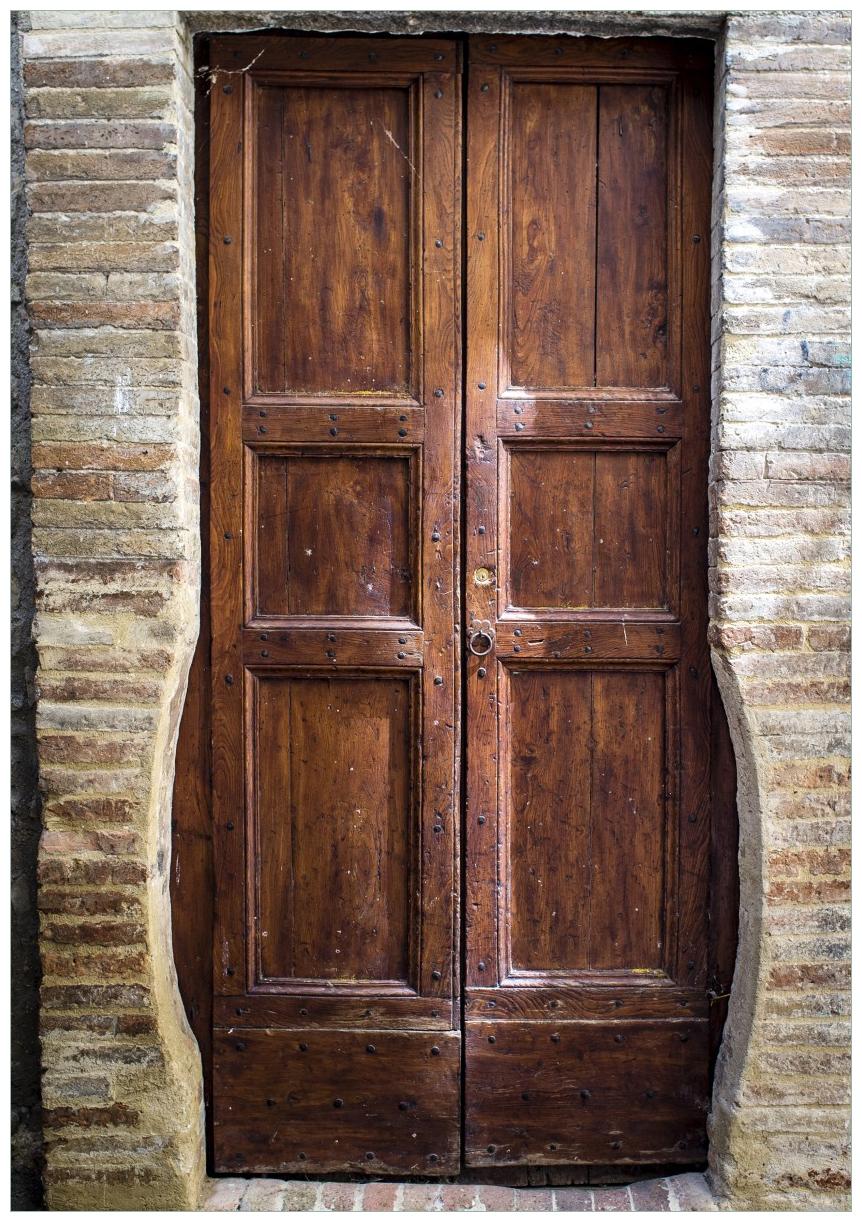 Wandbild Holztür braun – Bild 1