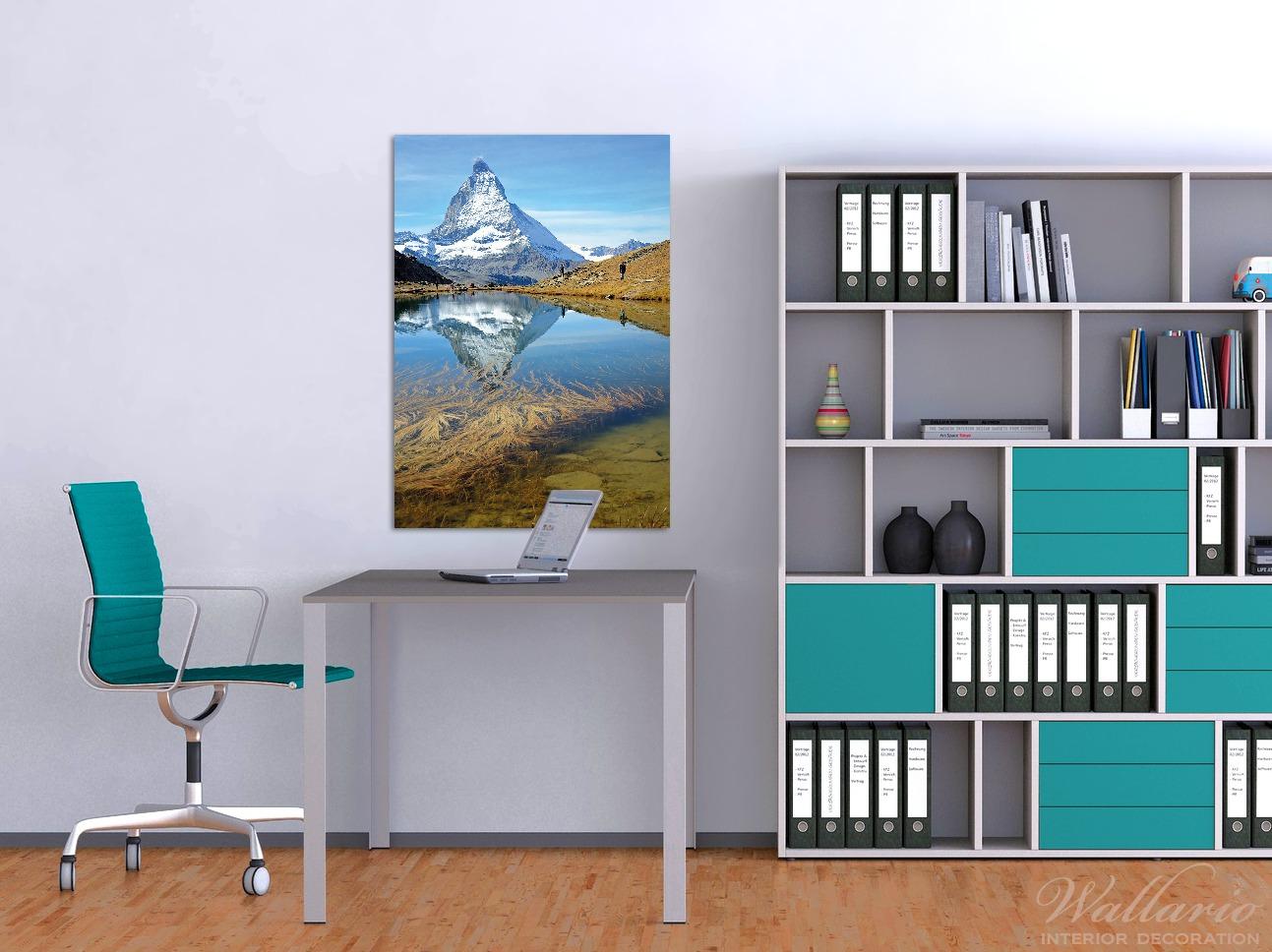 Wandbild Matterhorn - Spiegelung im See – Bild 2