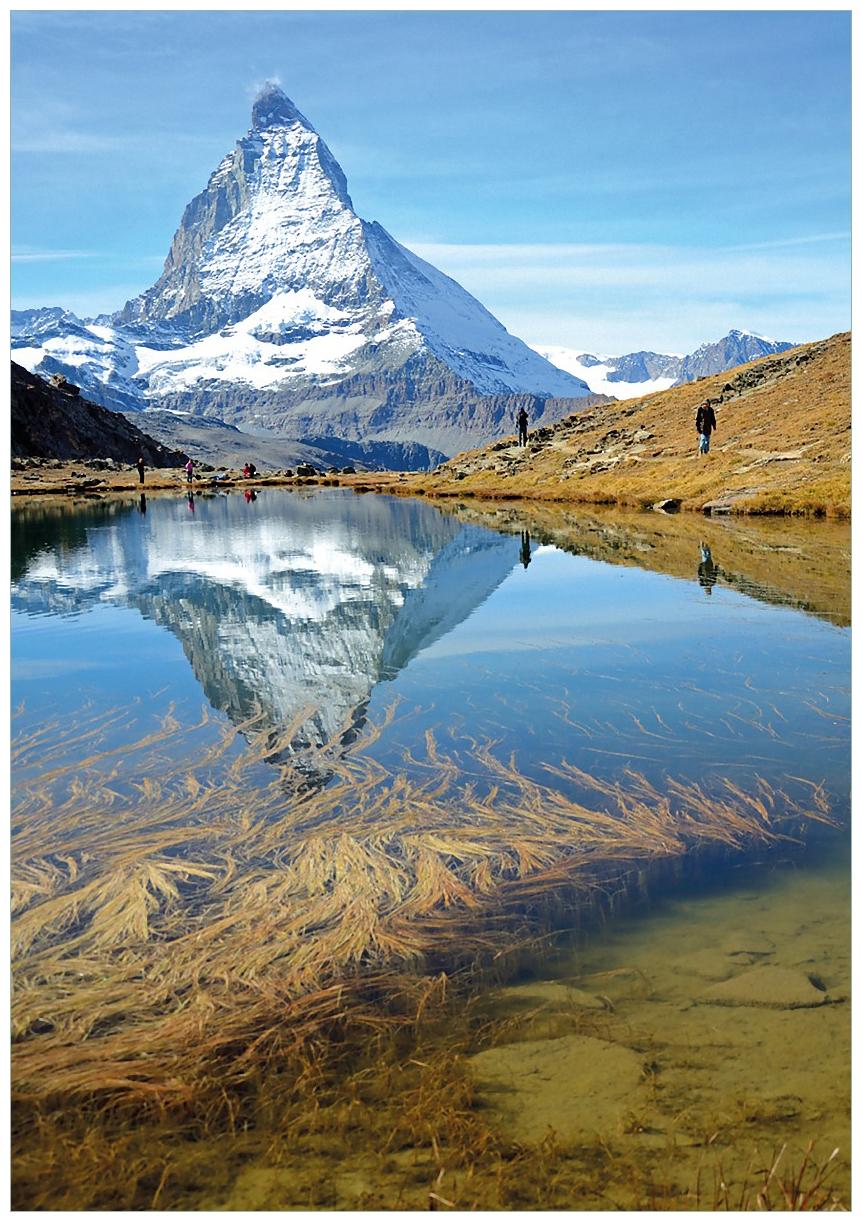 Wandbild Matterhorn - Spiegelung im See – Bild 1