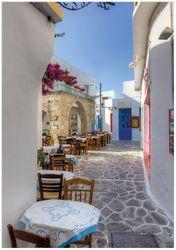 Wandbild Gasse in Griechenland – Bild 1