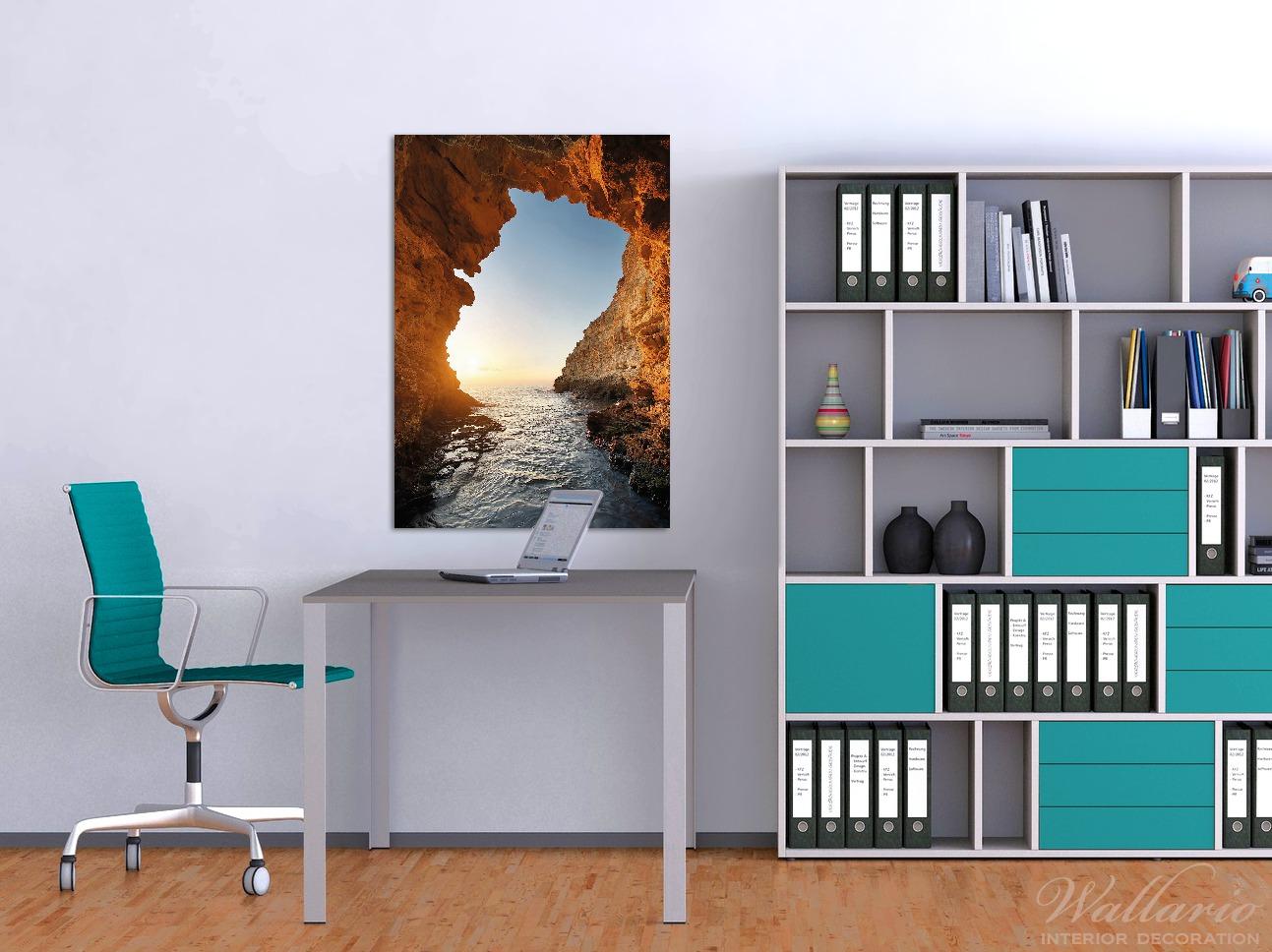 Wandbild Höhlen am Meer – Bild 2