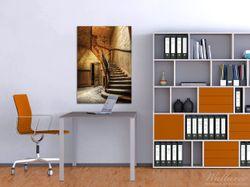 Wandbild Rustikale Holztreppe – Bild 2