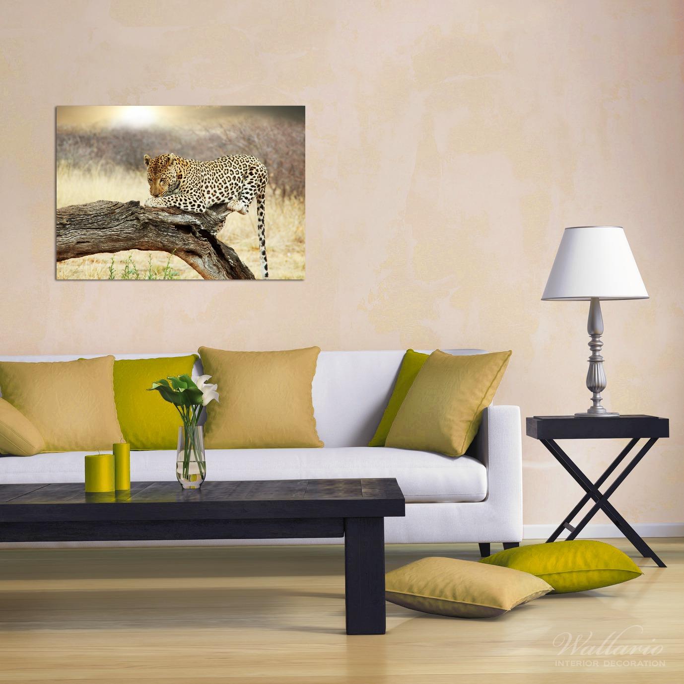 Wandbild Leopard auf Baumstamm in Afrika – Bild 2