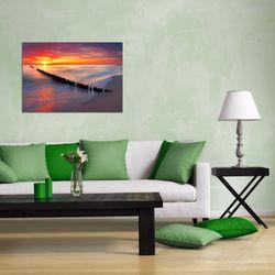 Wandbild Farbenspiel im Himmel - Sonnenuntergang am Strand – Bild 2