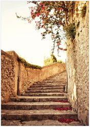 Wandbild Steinerne Treppe in Italien – Bild 1