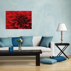 Wandbild Rote Dahlienblüte in Nahaufnahme – Bild 2