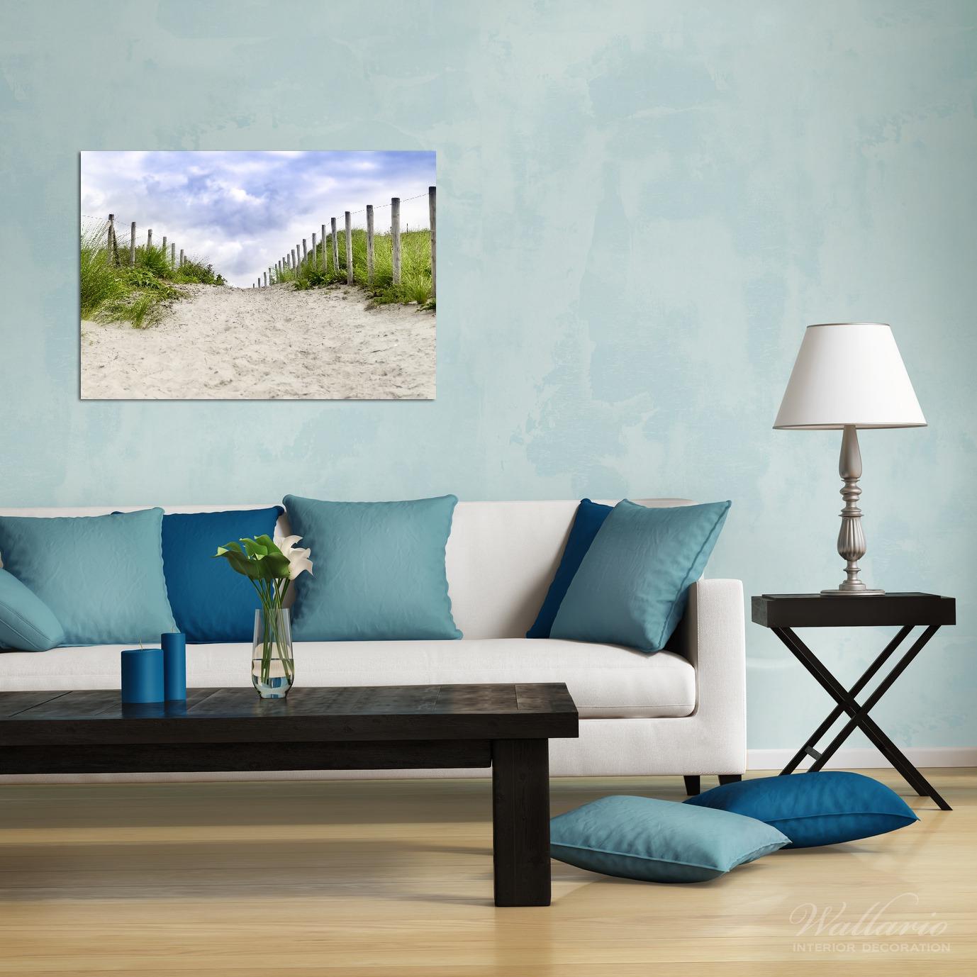 Wandbild Auf dem Weg zum Strand durch Dünen – Bild 2