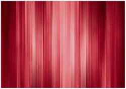 Wandbild Rot und schwarz gestreift - Abstraktes Streifenmuster – Bild 1
