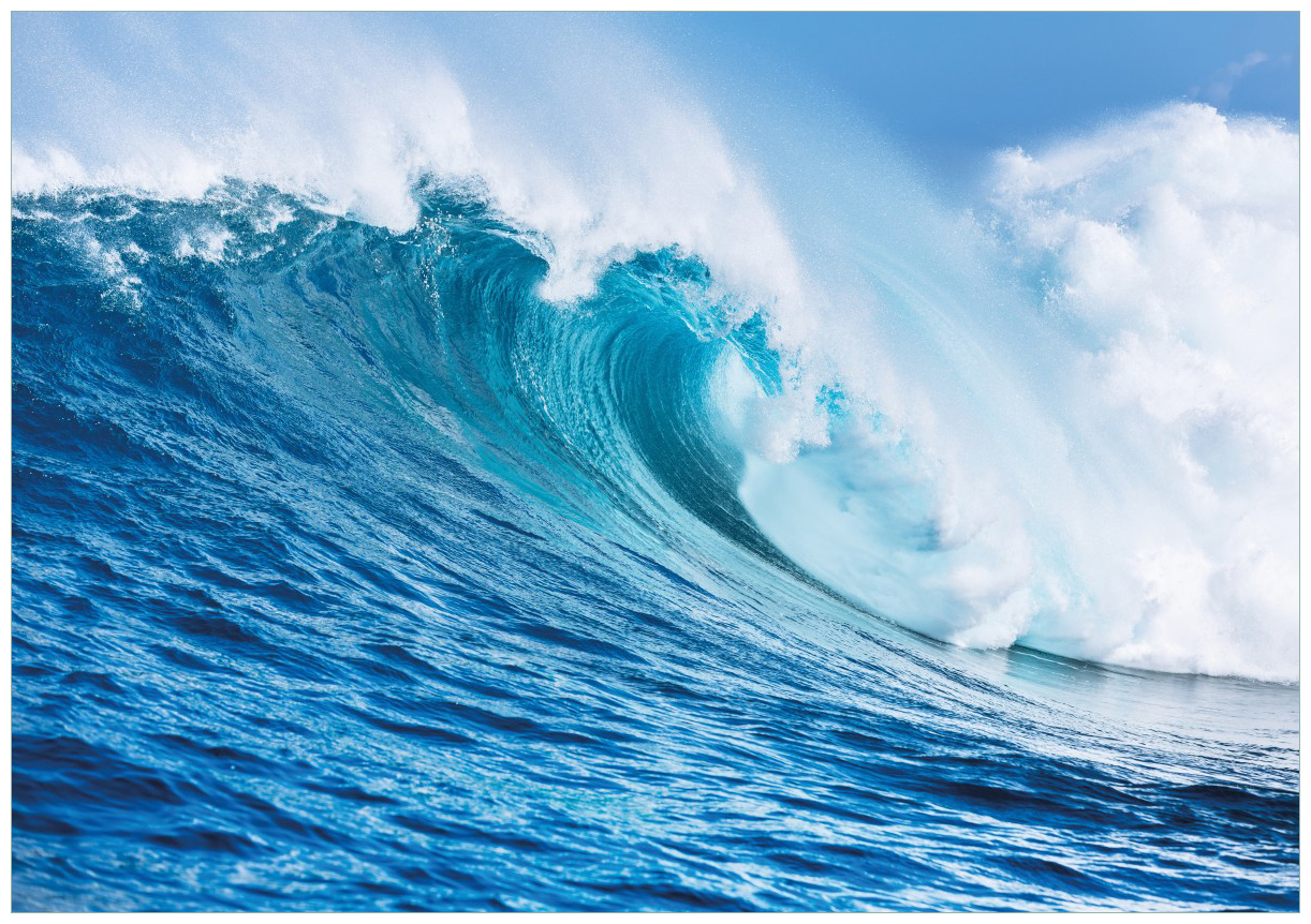 Wandbild Eindrucksvolle Welle im Ozean – Bild 1