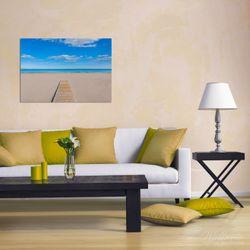 Wandbild Auf dem Holzweg zum blauen Meer – Bild 2