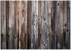 Wandbild Alte Holzwand - Holzplanken in grau und braun – Bild 1