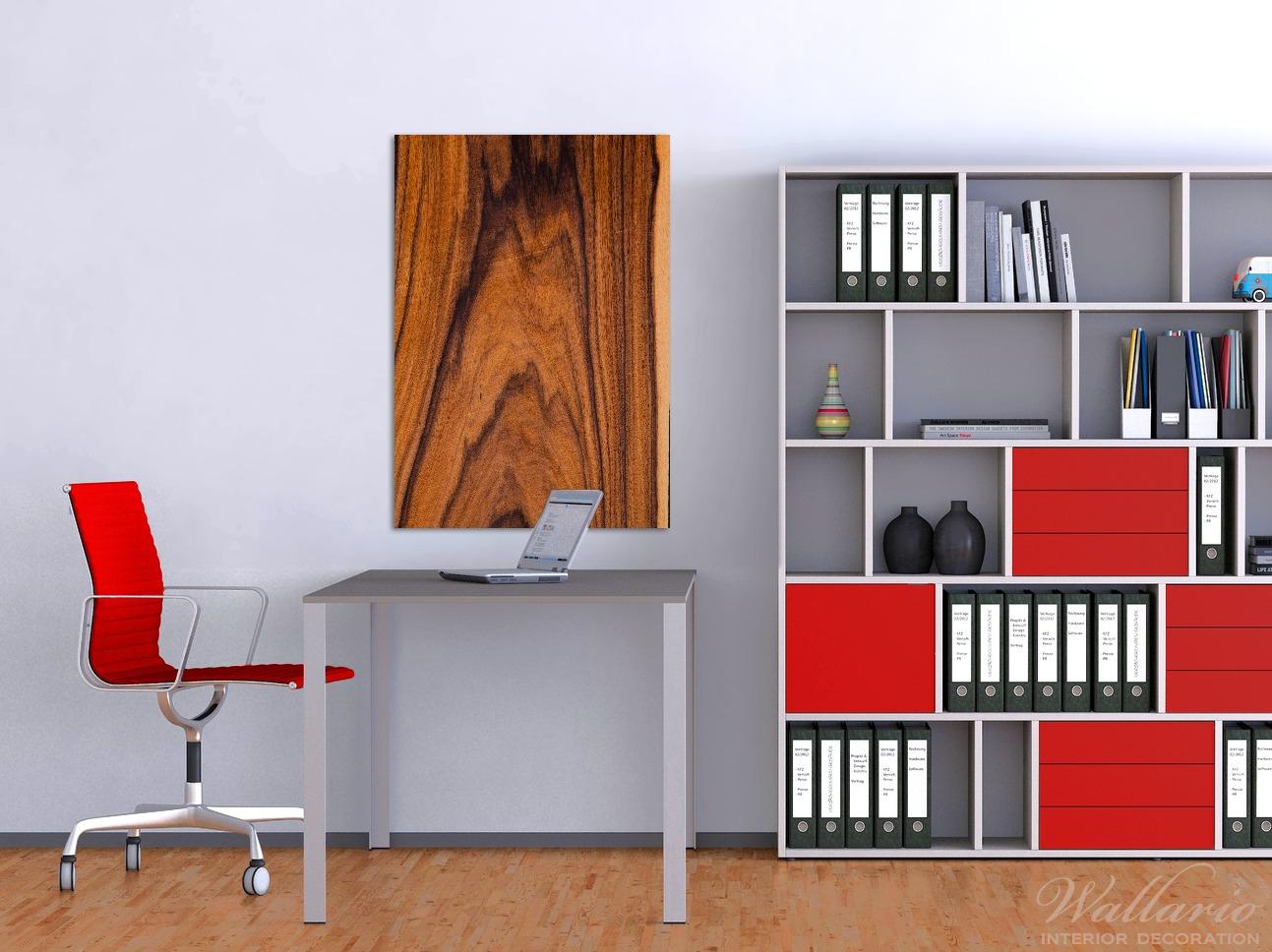 Wandbild Holzmuster - Oberfläche mit Holzmaserung IV – Bild 2