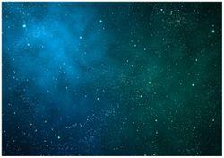 Wandbild Sternenhimmel - Milchstraße und Sterne bei Nacht – Bild 1