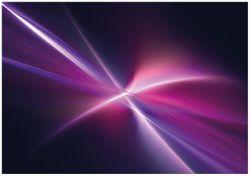 Wandbild Abstrakte Formen und Linien  schwarz lila pink weiß – Bild 1