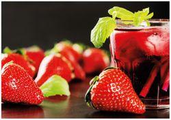 Wandbild Erdbeer-Mojito - Frische Erdbeeren – Bild 1